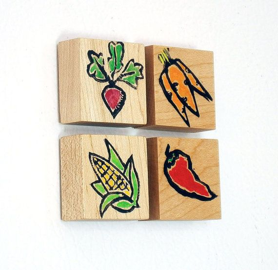 Fridge Magnets, Kitchen Magnets, Magnet, Notice Board Magnets, Vegetable Decorations, Garden, Ink and paint, Neodymium, Rare Earth Magnets