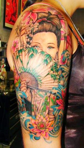 Gambar tattoo geisha jepang tiger tattoo pinterest - Tattoos geishas japonesas ...