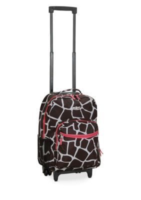 Rockland 17-In. Rolling Backpack - Pink Giraffe - 17 In.