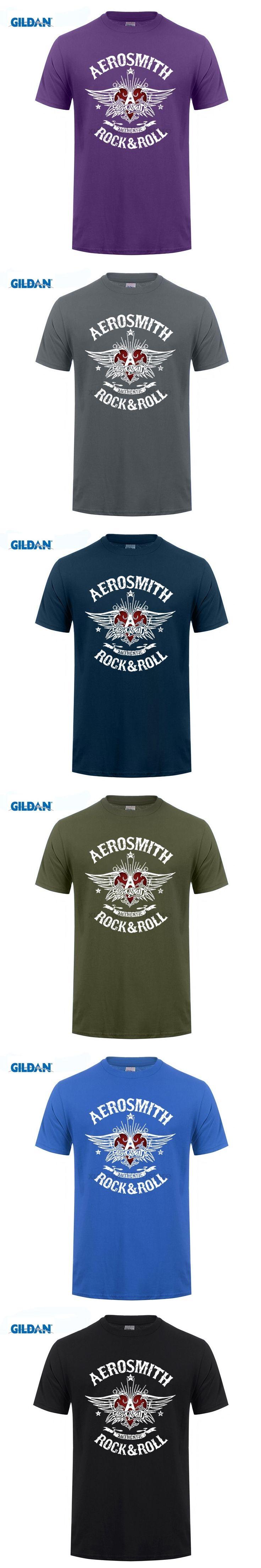 Gildan Aerosmith T Shirt Hard Rock & Roll Band Music Blues Short Sleeves New Fashion T-shirt Men Clothing Black Style Top Tee