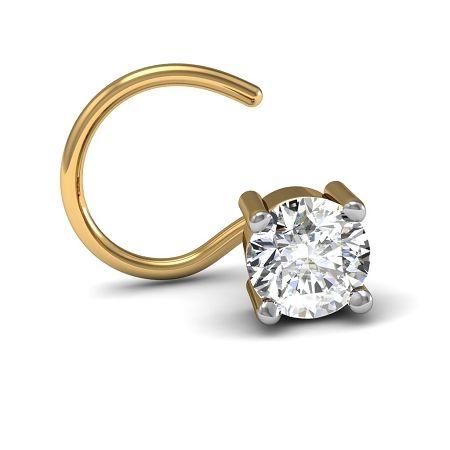 Nose Ring Online Round Certified Diamond Gold Weddding