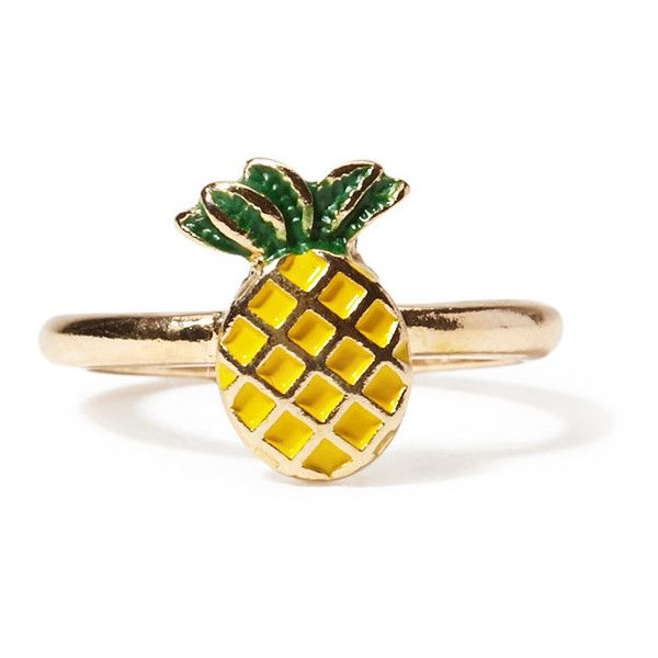Pineapple Ring found on Polyvore featuring polyvore, women's fashion, jewelry, rings, pineapple ring, pineapple jewelry, forever 21 jewelry, forever 21 rings and forever 21