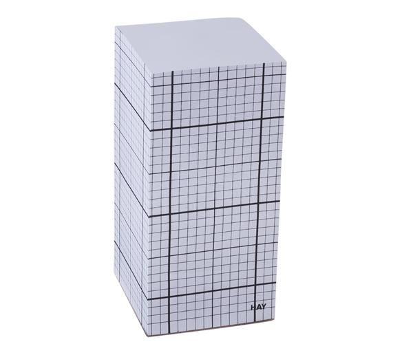 HAY Tower Block - Black Grid on White - 15cm 99 kr