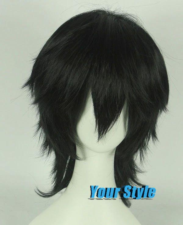 Japanese Izaya Orihara Sebastian Michaelis Wig Cosplay Black Short Boy Pixie Cut  Wig Peruca Cosplay Perruque Homme Men