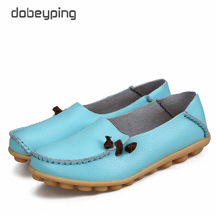 Buy 2017 Women s Real Leather Shoes Soft Woman Flats Comfortable Mother Loafers Female Driving Footwear Solid. Click visit to check price