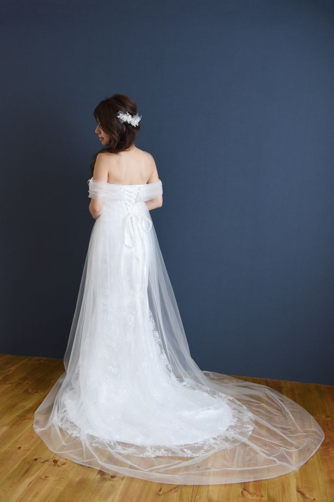 weddingdress ウェディングドレス 大手他店参考価格35万→98,000円 #weddingdress #tulle #mermaid #ウェディングドレス #チュール #マーメイドドレス