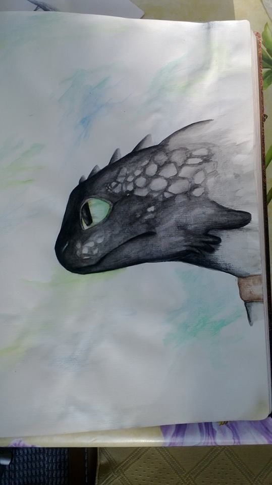 Toothless drawing! Credit to the amazing artist! :D