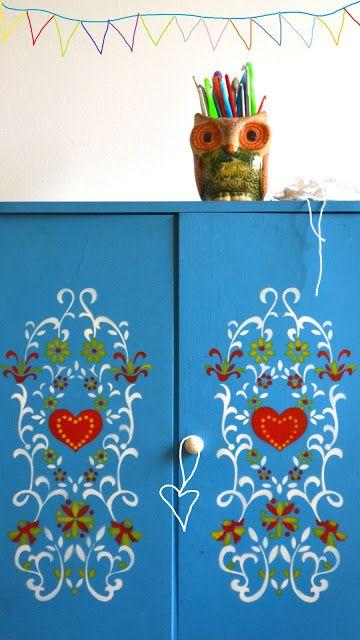 Inspiração décor – azul e vermelho, as cores do Shabby Chic