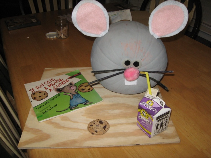 If You Give a Mouse a Cookie activity.  This is a painted pumpkin.