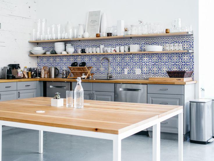 Charming An Alternative Kitchen Splashback   Kitchen Wallpaper By Lime Lace   The  Interior Editor