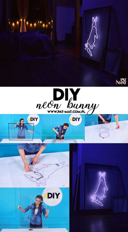 DIY NEON BUNNY  Jak zrobić neon w kształcie królika? #diy #diyproject #diyideas #neon #neonart #bunny