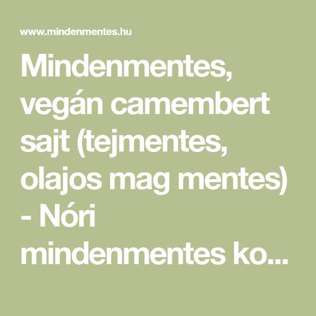Mindenmentes, vegán camembert sajt (tejmentes, olajos mag mentes) - Nóri mindenmentes konyhája