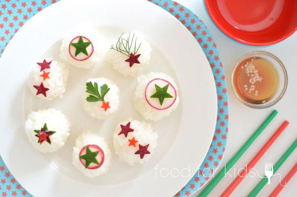 Rice Balls - Fancy and Fun! Check them out at foodforkids.com