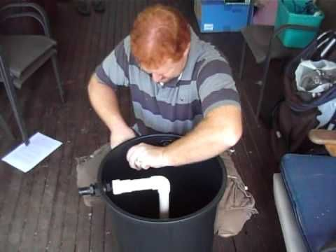 DIY home made cheap Biological Filter for your Koi or Goldfish Pond for under $100 - YouTube
