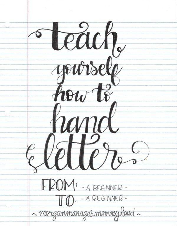 Teach Yourself How to Hand Letter   Scrapbooking   CraftGossip   Bloglovin'