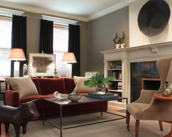 Eclectic Living Room Red Design, Pictures, Remodel, Decor And Ideas   Page 2 Part 37