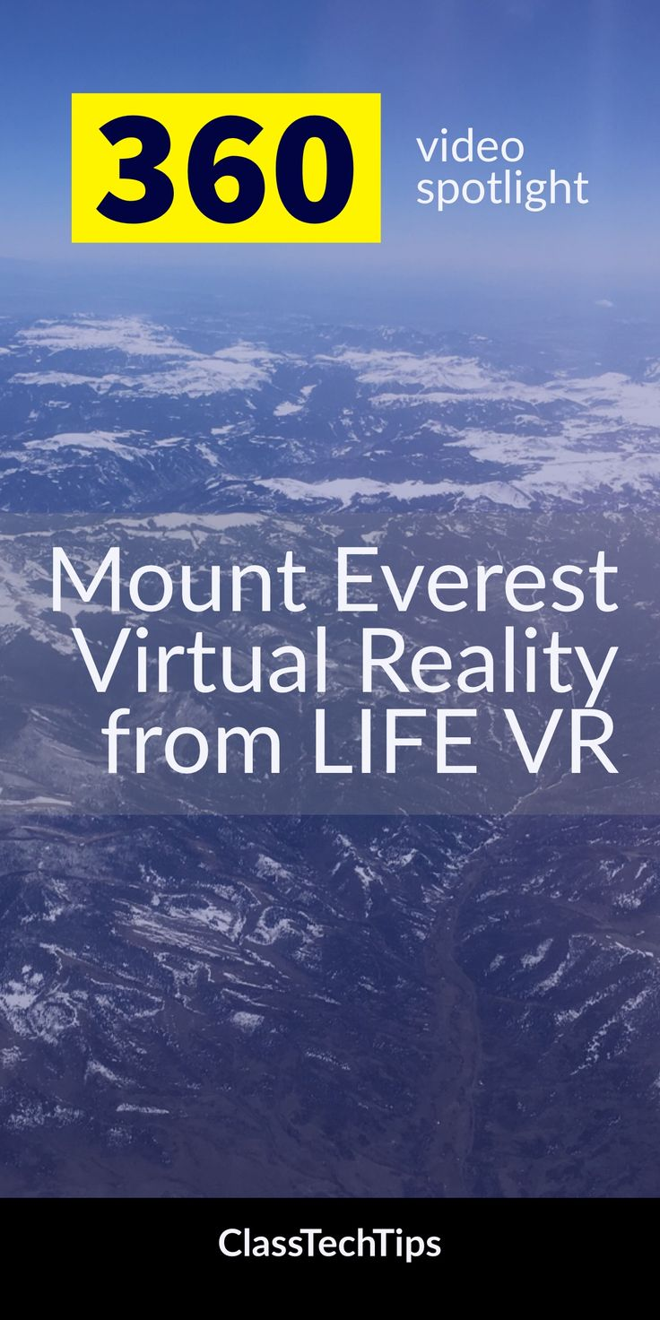 Although it's warming up here in the northeast I definitely felt a chill as I watched these fantastic 360 videos from LIFE VR. With this collection of four video clips you can introduce students to a Mount Everest virtual reality experience. Students will follow the journey of climbers from preparation at home to making it up the mountain. virtual reality in education, augmented reality in education, virtual reality in the classroom, educational vr apps