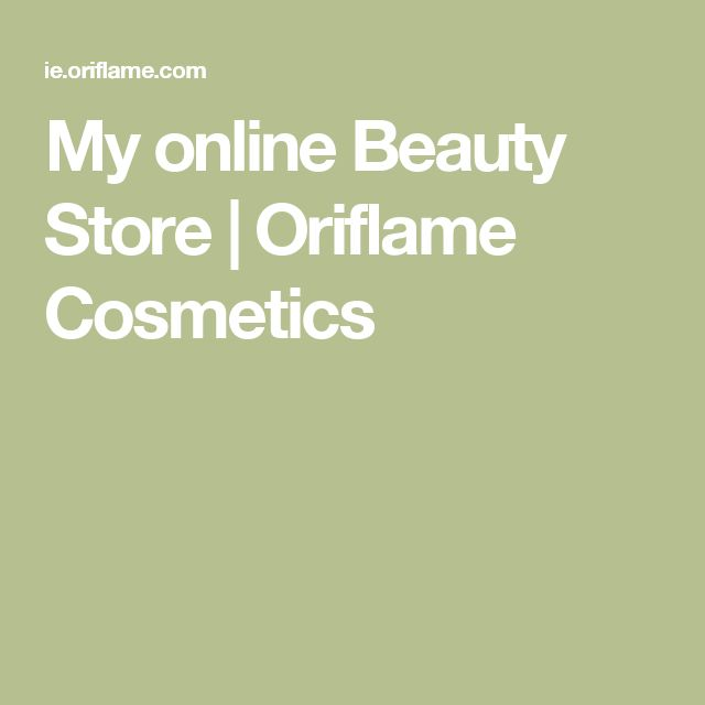 My online Beauty Store | Oriflame Cosmetics