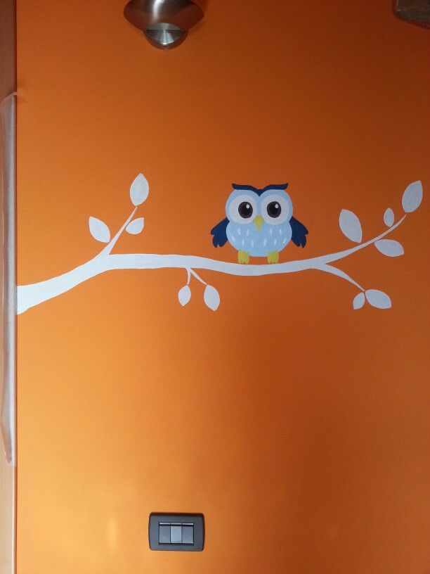 #bird #wall #branch #paintbrushes #painting #room