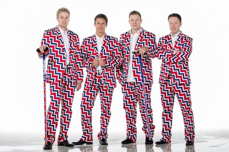 L'équipe norvégienne de Curling dévoile son beau costume pour les jeux olympiques.