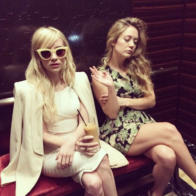Chanel and Chanel #3 hard at work #ScreamQueens #Vegas