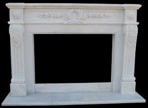 Marble fireplace mantle surround – model mfp108