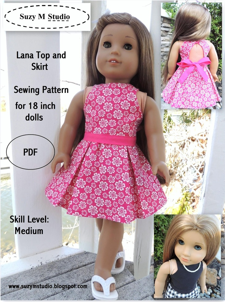Suzymstudio design.  Pattern is a perfect fit for Springfield dolls.  Fun to sew.