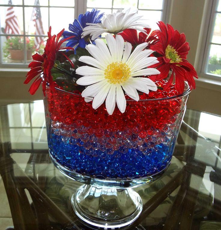 Elegant Patriotic Centerpieces Water Bead Centerpieces