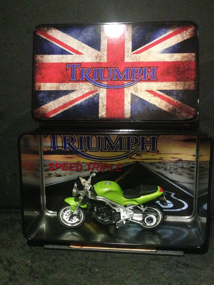 The Triumph Triple Speed Metal Collector Box by Route66store on Etsy