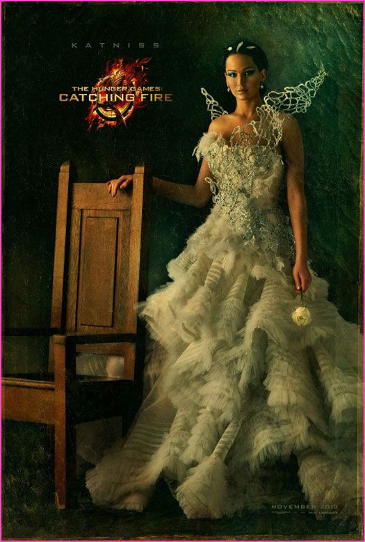 Jennifer Lawrence as Katniss The Hunger Games Catching Fire