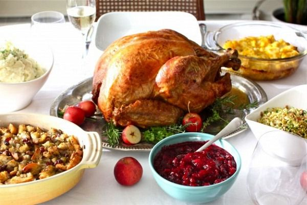 Recipes for a complete, traditional Thanksgiving Dinner Menu.  Photographs included.