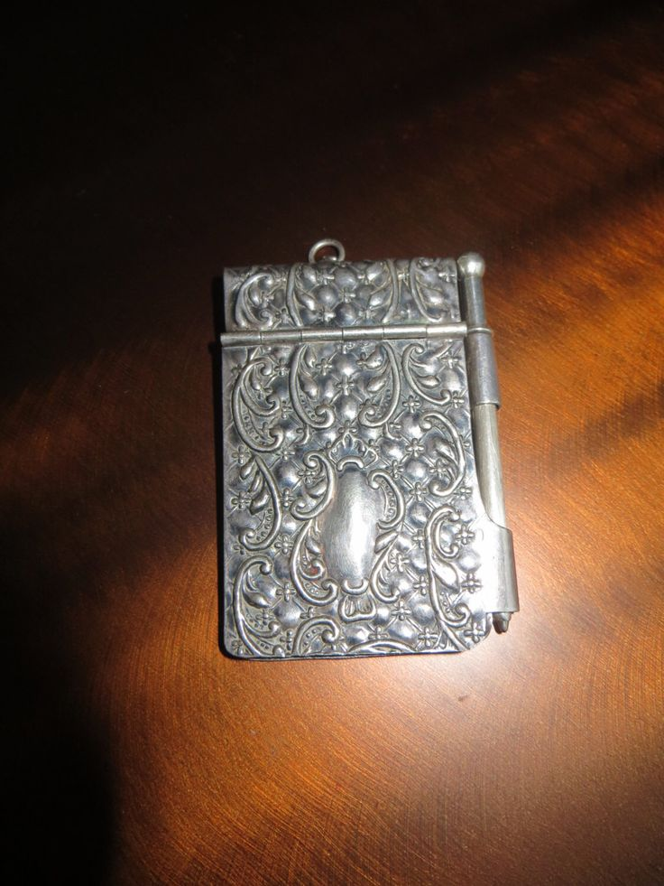 Victorian Sterling Solid Silver Chatelain Aide Memoir Art Nouveau Dance Card Book by LuckTreasurevintage on Etsy https://www.etsy.com/listing/160682604/victorian-sterling-solid-silver