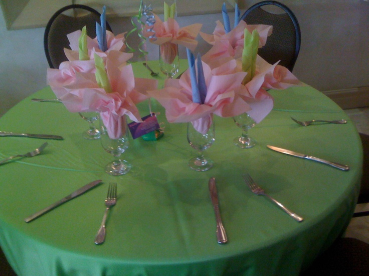 Fun spring colors for a kids party or luncheon!
