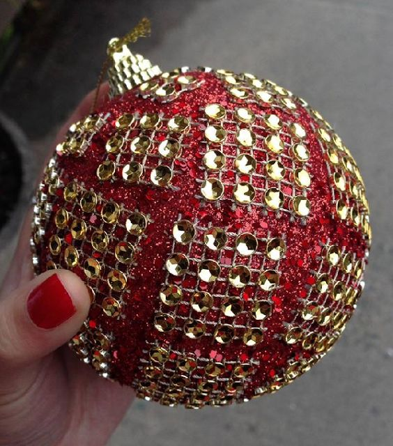 Christmas Ornaments Red And Gold : Images about red and gold christmas ornaments on
