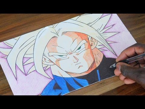 Super Trunks Drawing - Dragon Ball Z 162 - DeMoose Art - YouTube