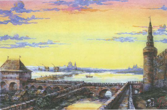 Алевизов ров и укрепления между Беклемишевой башней и Водяными воротами