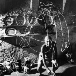 One bright spark: Hypnotic photographs capture Pablo Picasso painting with light