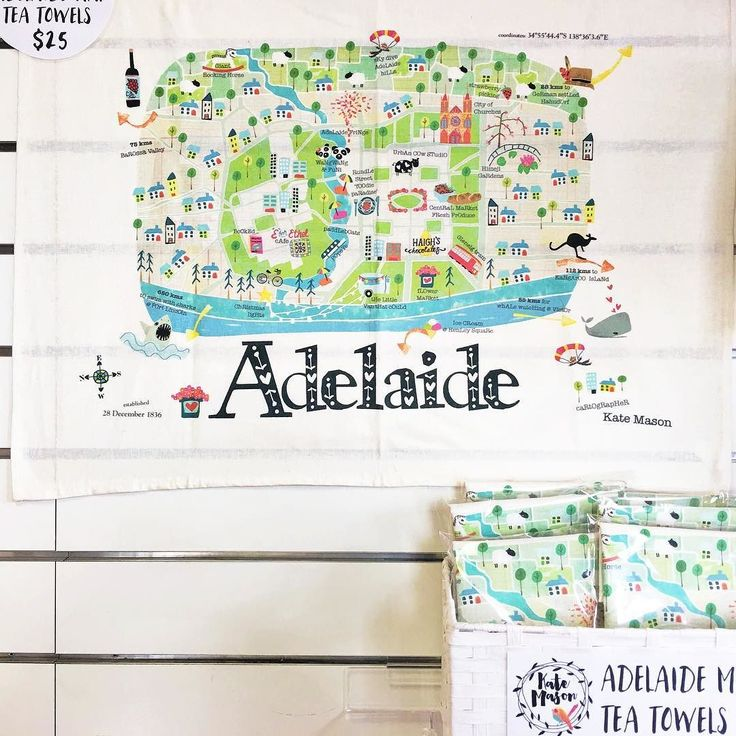 Adelaide people I now have a permanent stock of greeting cards & Adelaide Map tea towels at the Hyde Park Post Office on King William Road! Perfect gift for Christmas or to send overseas (at the Post Office while you are there!) You no longer have to wait to see me at markets! Open M-F 9-5 ! #adelaidemap #adelaidemapteatowel #katemasonillustration #christmasgiftideas #messymisskate
