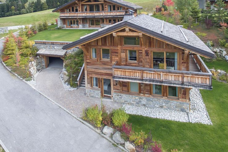 Look at the #design and the lovely #garden in #Megeve