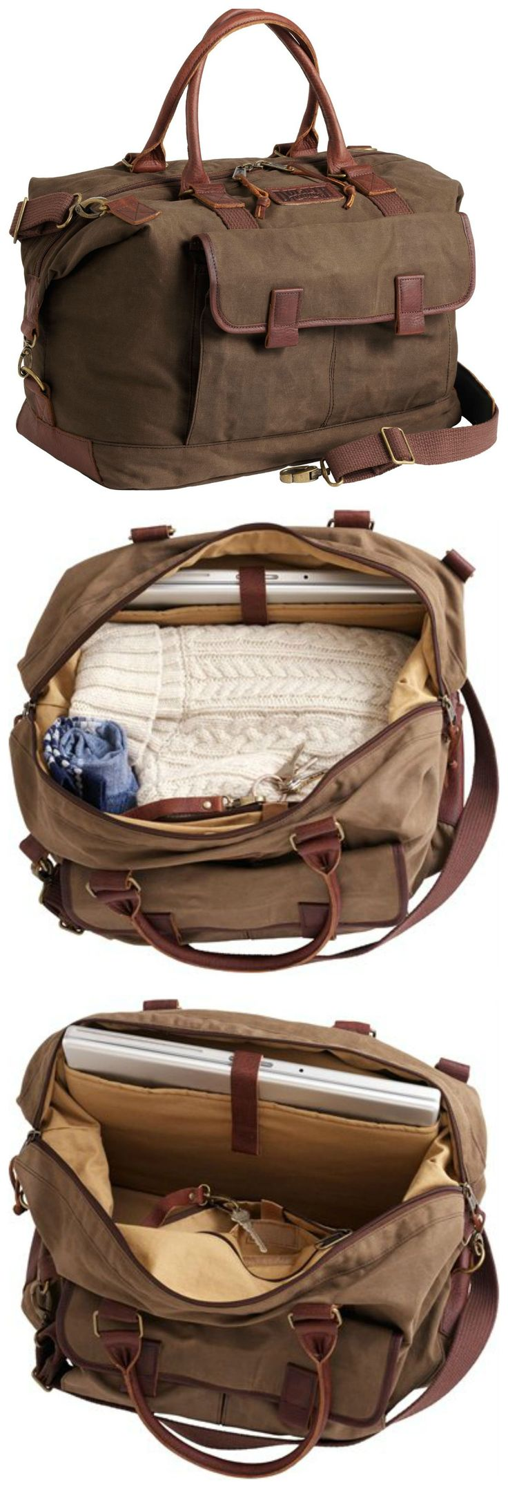 The Oil Cloth Weekender Travel Bag goes the distance with moisture-resisting good looks, ample room for overnight gear and 5 organizing pockets.