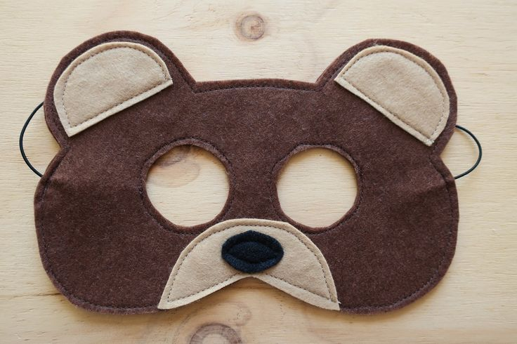 "Our wonderful Bear mask will add so much fun to your little persons pretend play!  Have a teddy bears picnic in the garden or a go on a bear hunt in the forest!  ""If you go down to the woods today!""  Easy to pull on and off our masks are made with felt and elastic. Hard wearing and easy clean,..."