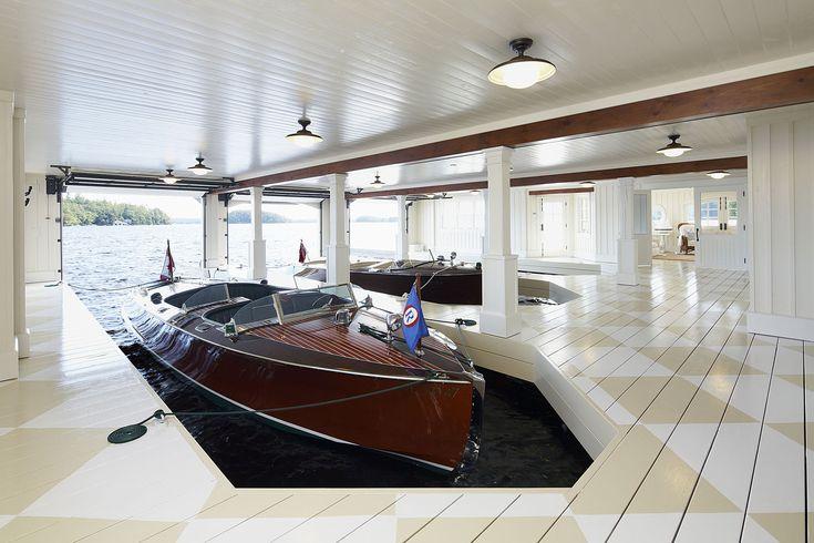 lower level boat garage