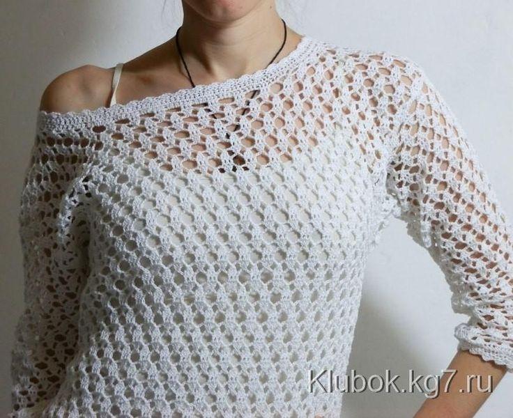 1510 best blusas crochet l images on Pinterest | Crochet tops ...