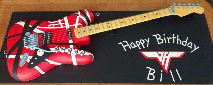 Eddie Van Halen - Frankenstein guitar cake!   cake ...Eddie Van Halen Guitar Design