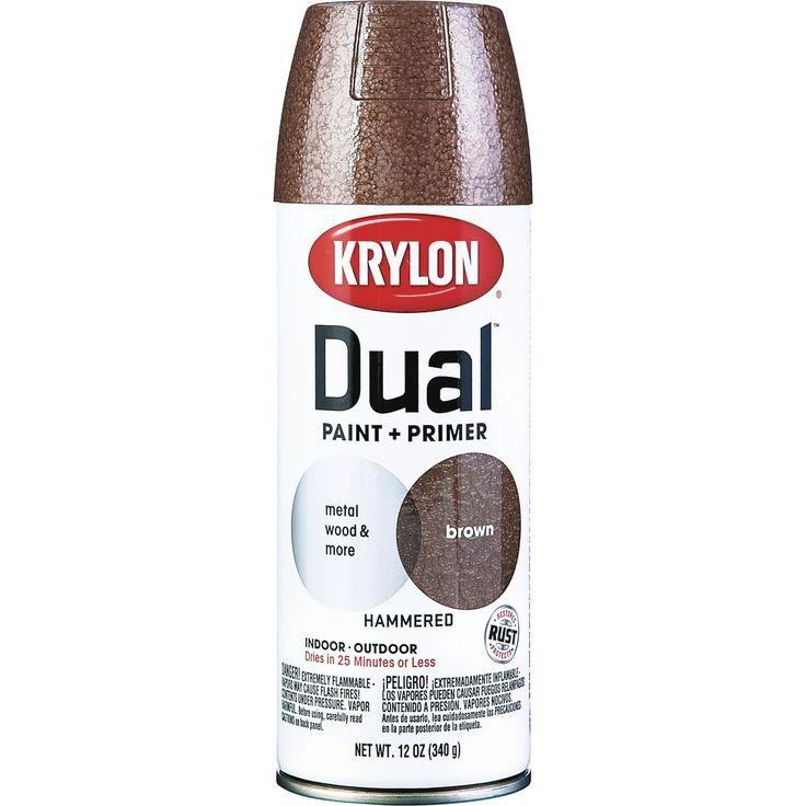 Krylon 12 Oz Brown Hammered Dual Paint Primer Spray