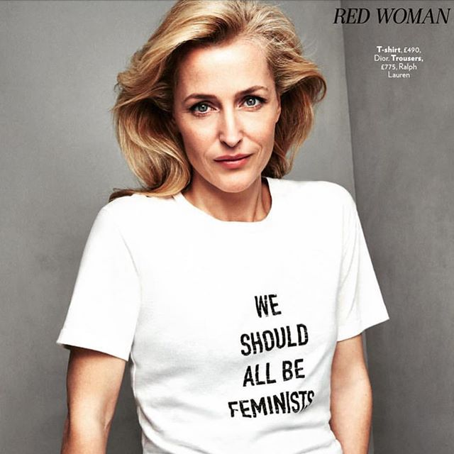 Gillian Anderson. Red Magazine (UK) April Issue