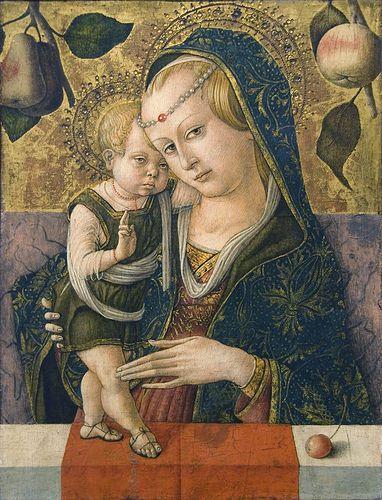 Madonna and Child, c. 1490 CARLO CRIVELLI (Venezia, 1430/1435 circa – 1494/1495 circa)  #TuscanyAgriturismoGiratola