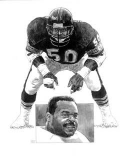 Mike Singletary Chicago Bears Lithograph by HOFGROUP on Etsy