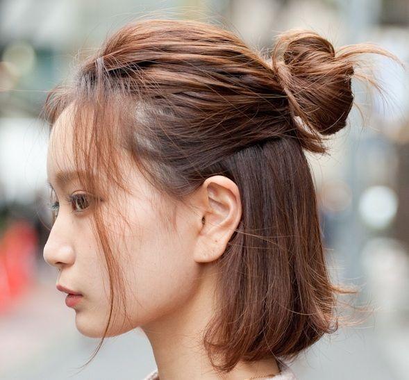 Korean Medium Hairstyles Gaya Rambut Pendek Gaya Rambut Ide Gaya Rambut