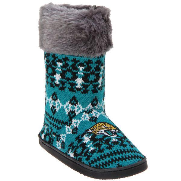 Jacksonville Jaguars Women's Aztec Boots - $34.99